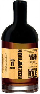 Redemption Rye Whiskey Barrel Proof 8 Year 750ml